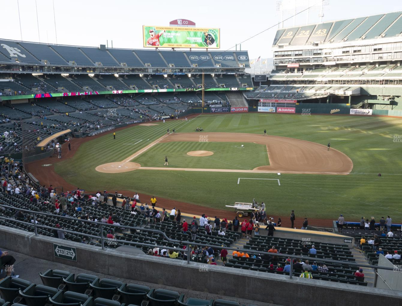 Oakland-Alameda County Coliseum Section 212 Seat Views ...
