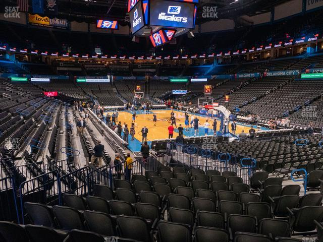 Chesapeake Energy Arena Section 102 view