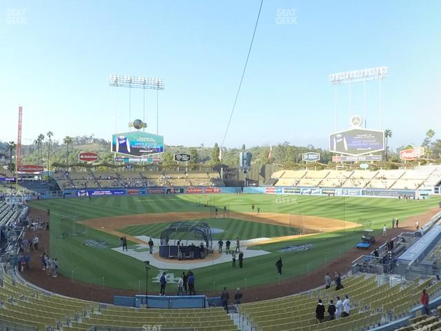 Dodger Stadium Loge Box 106 view