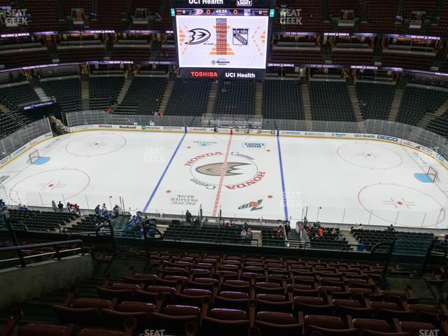 Honda Center Section 411 view