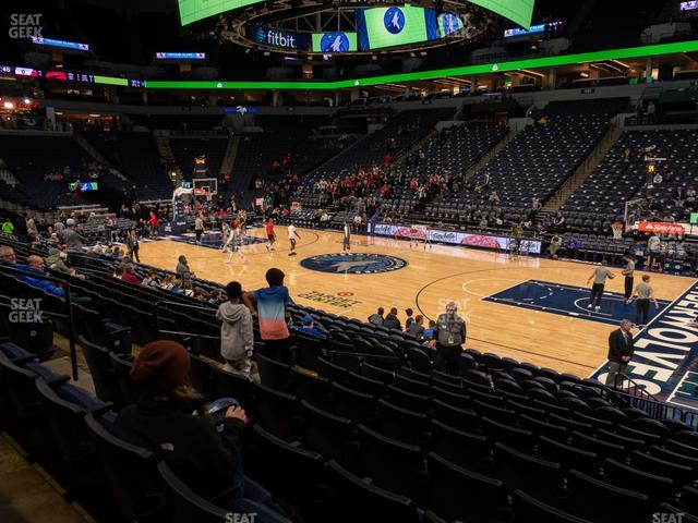 Target Center Section 109 view