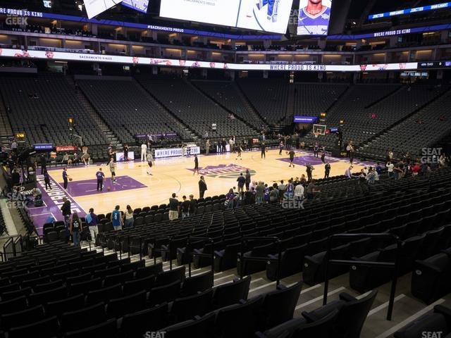 Golden 1 Center Section 122 view