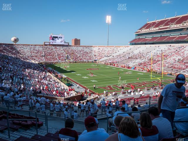 Gaylord Family Oklahoma Memorial Stadium Section 48 view