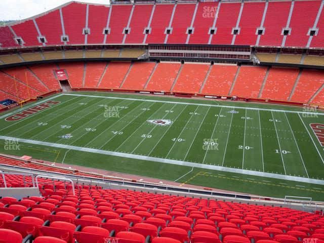 Arrowhead Stadium Section 345 view