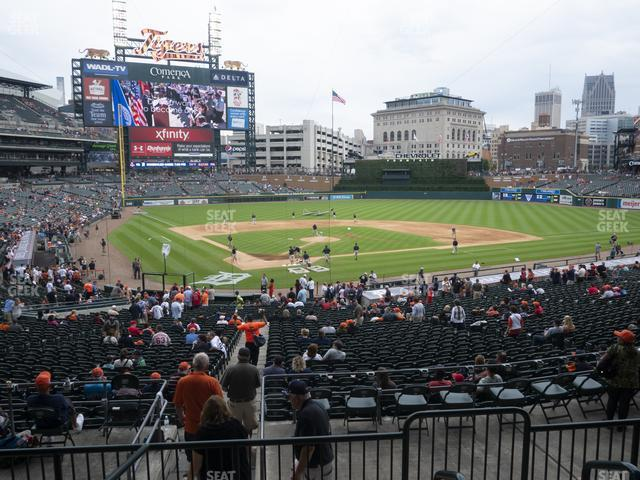 Comerica Park Section 126 view
