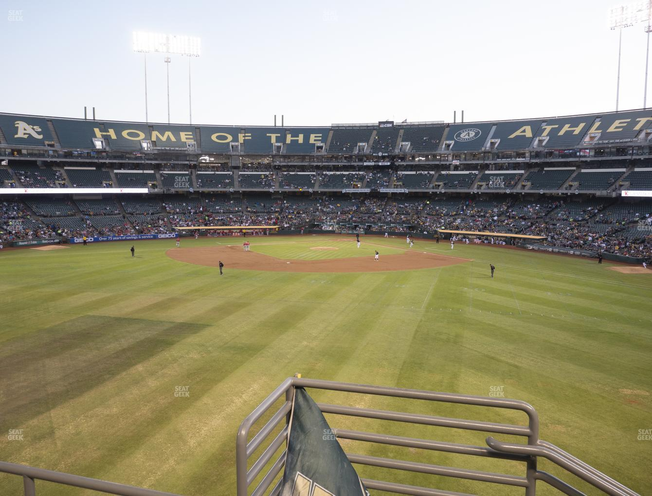 Oakland Athletics at RingCentral Coliseum Section 139 View