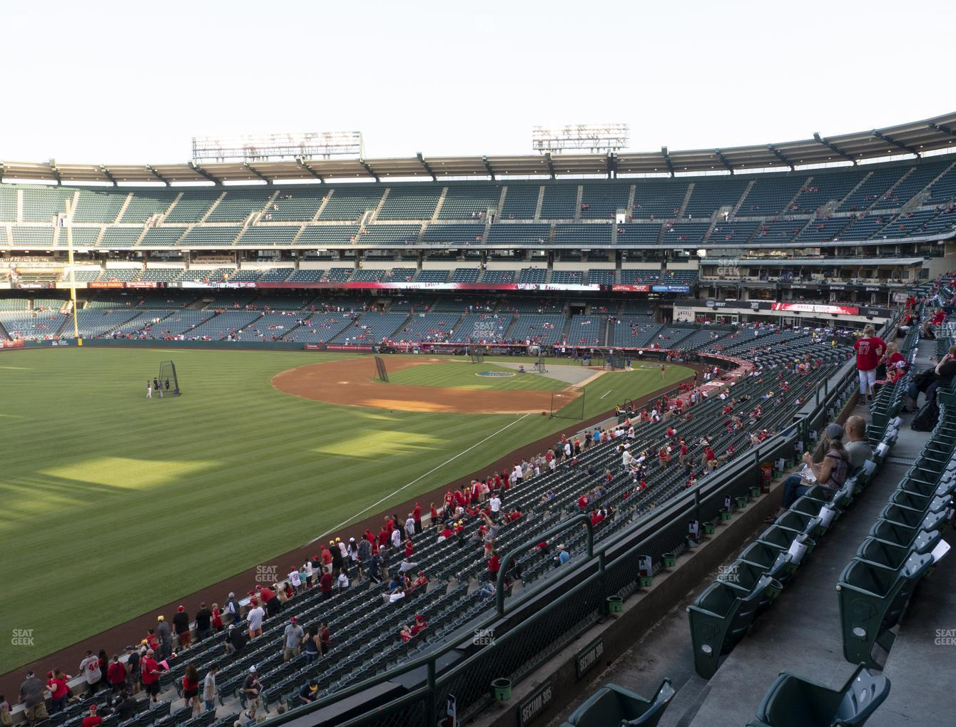 Los Angeles Angels at Angel Stadium of Anaheim Section 305 View