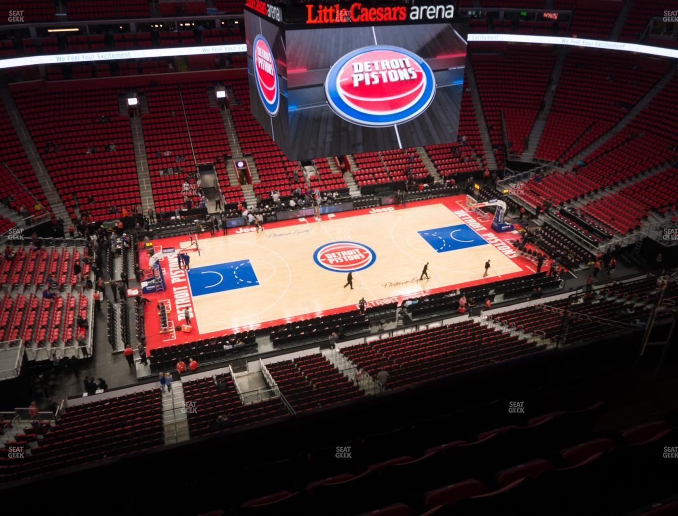 Detroit Pistons at Little Caesars Arena Section 213 View