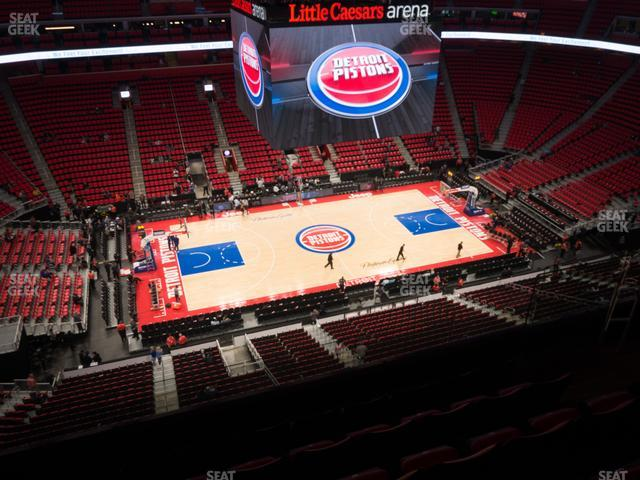 Little Caesars Arena Section 213 view