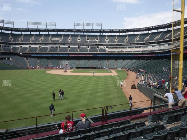 Globe Life Park Section 8 view