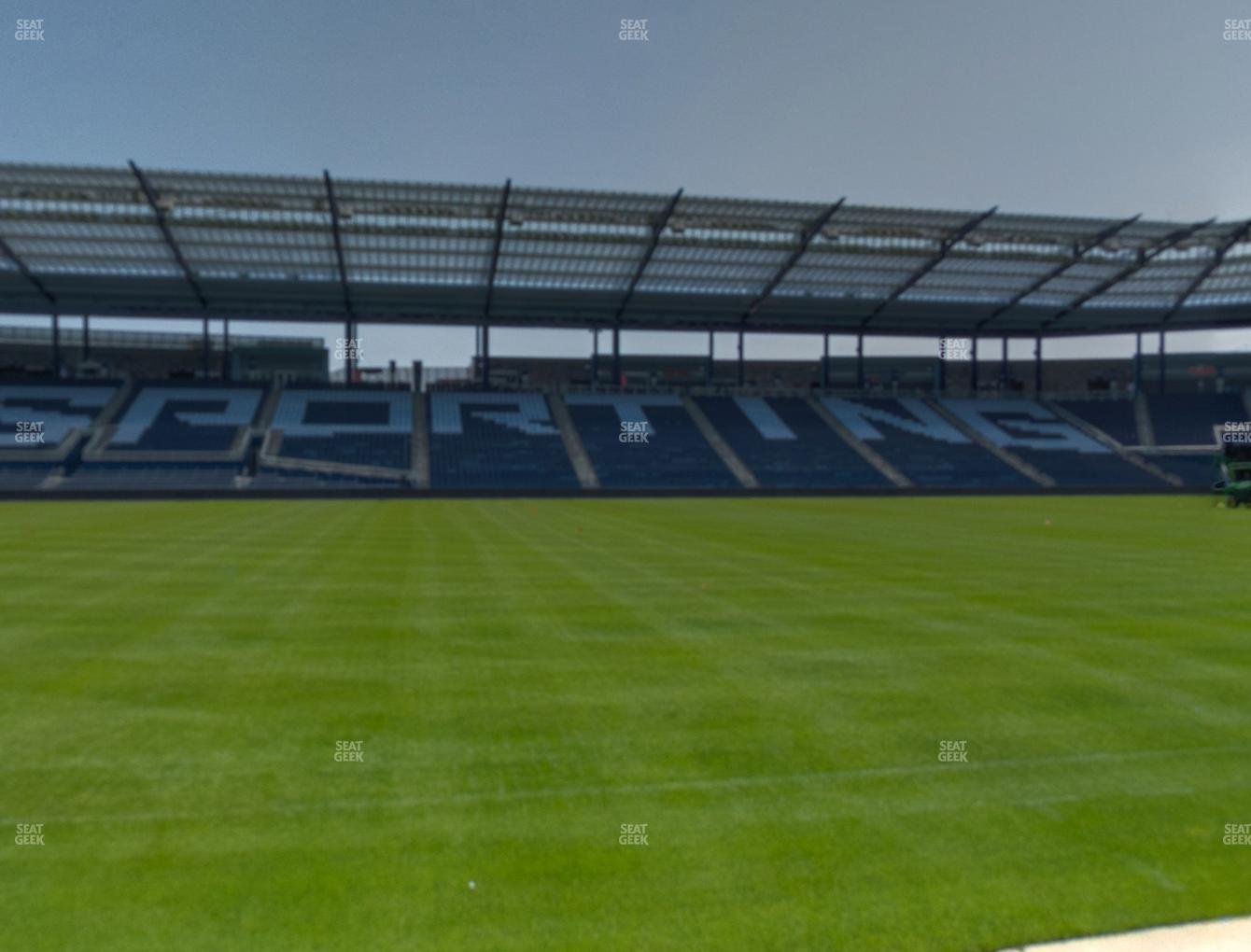 Sporting Kansas City at Children's Mercy Park Field Club 4 View
