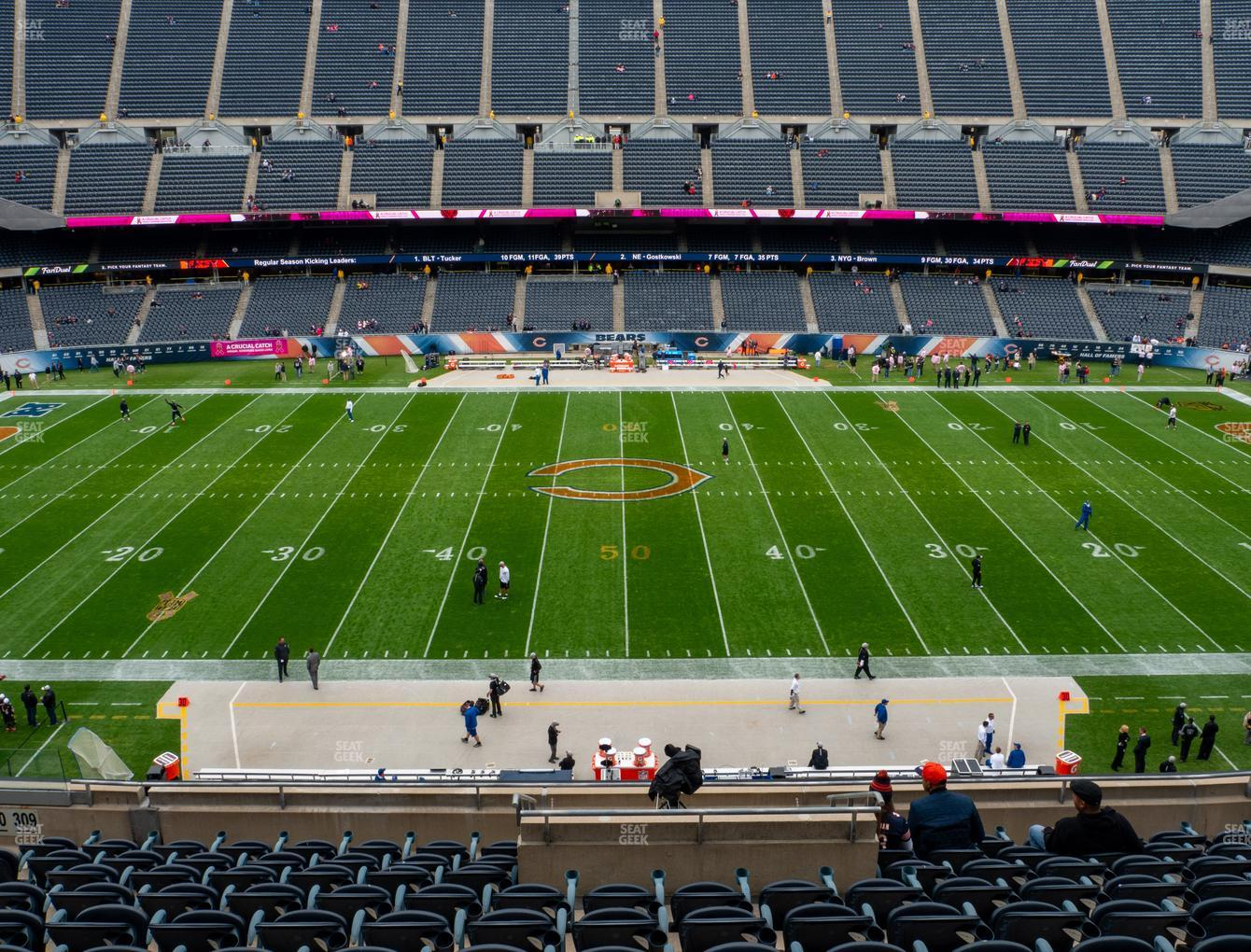Chicago Bears at Soldier Field Section 309 View