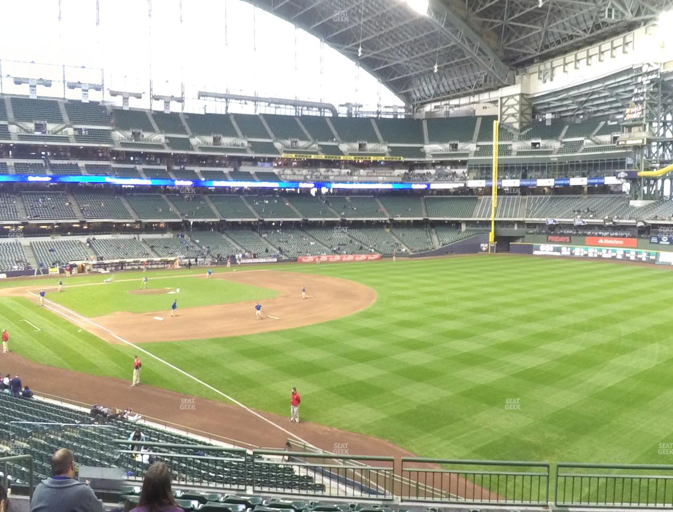 Milwaukee Brewers at Miller Park Section 207 View