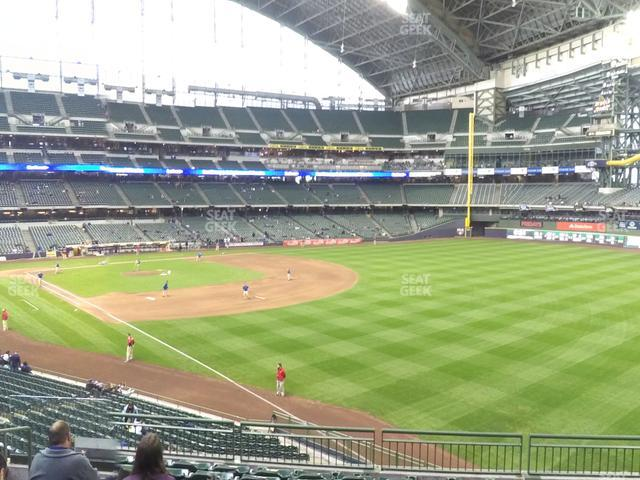 Miller Park Section 207 view