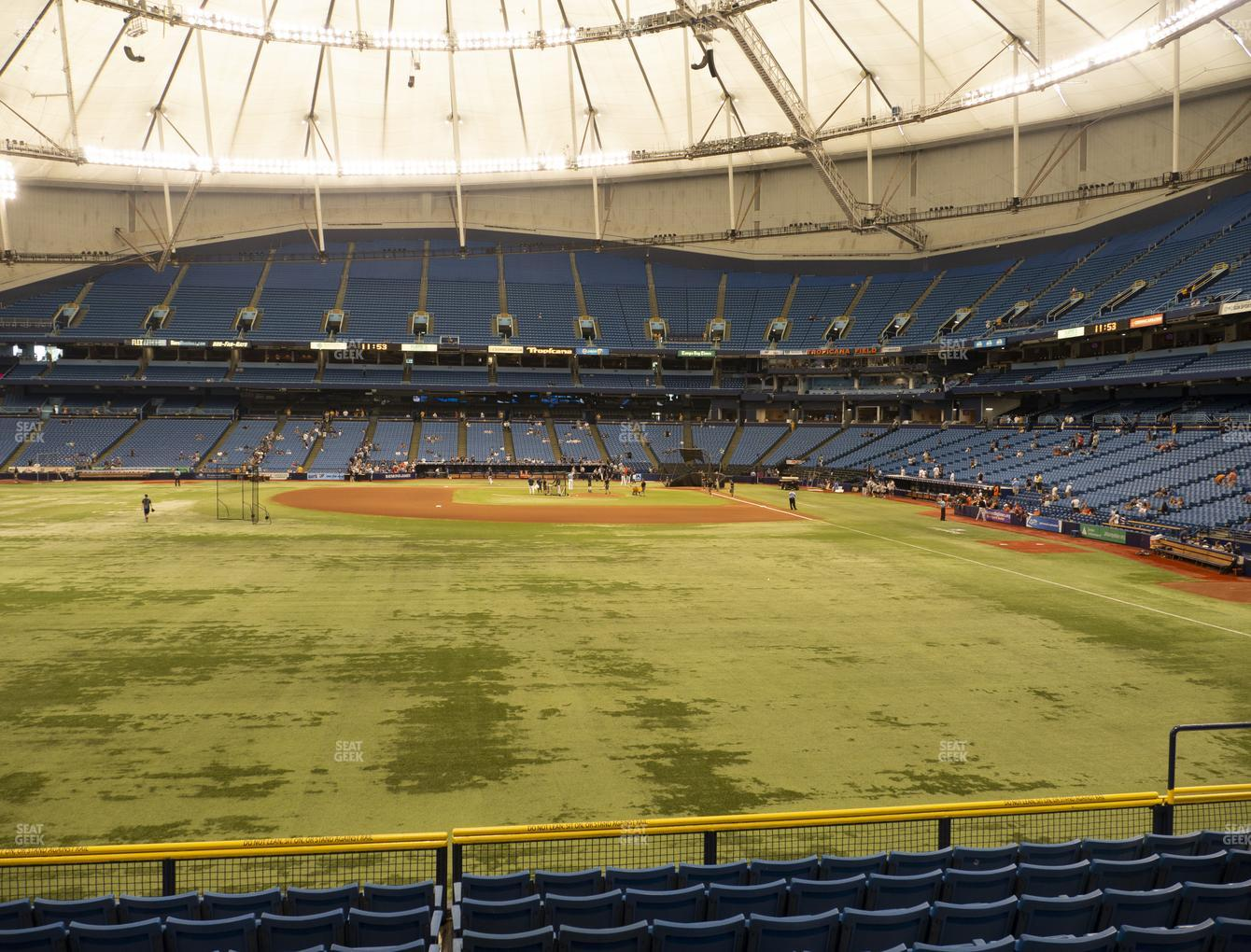 Tampa Bay Rays at Tropicana Field Section 143 View
