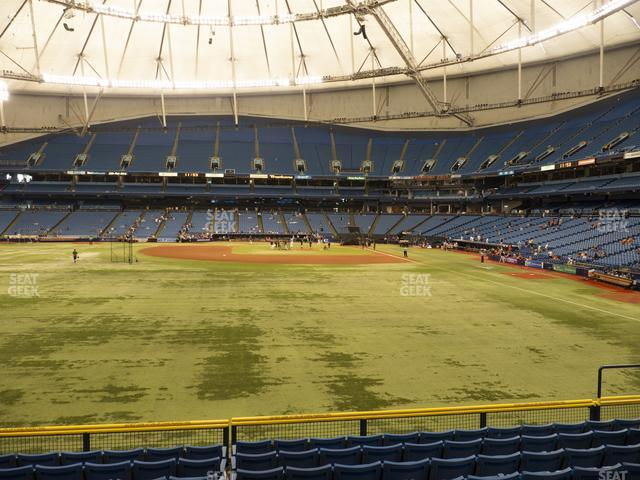 Tropicana Field Section 143 view
