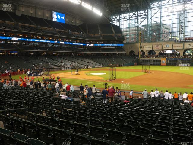 Minute Maid Park Section 128 view