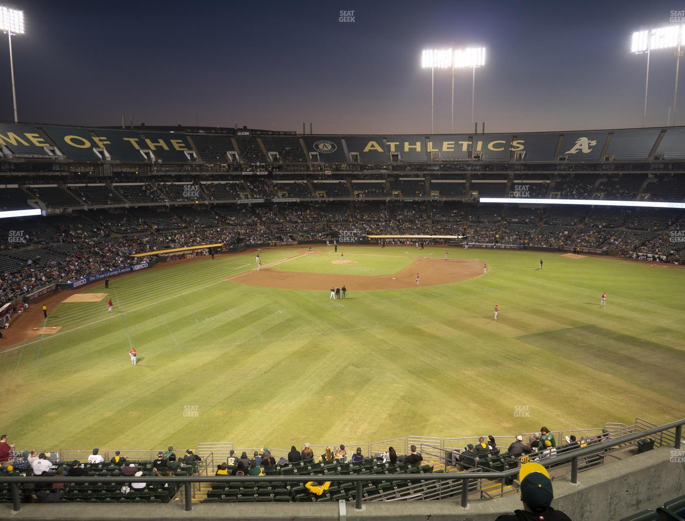 Oakland Athletics at Oakland-Alameda County Coliseum Section 247 View