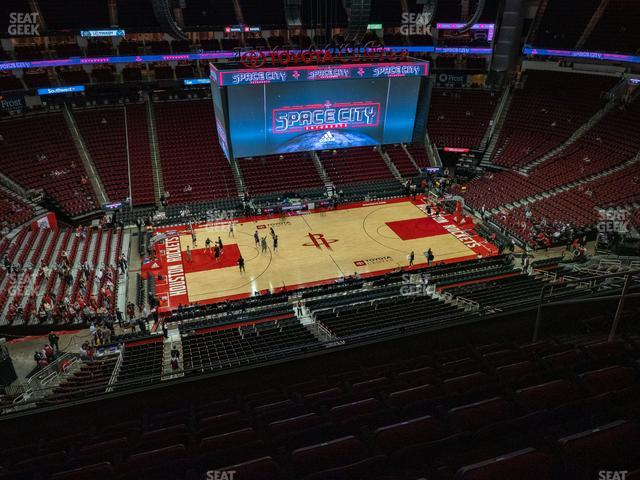 Toyota Center Section 411 view