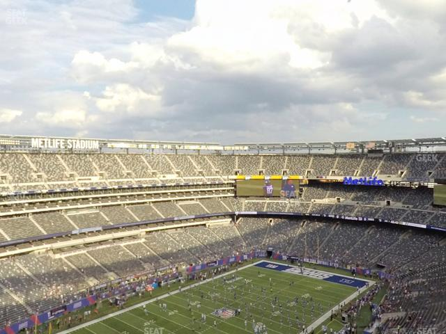 MetLife Stadium Section 345 view