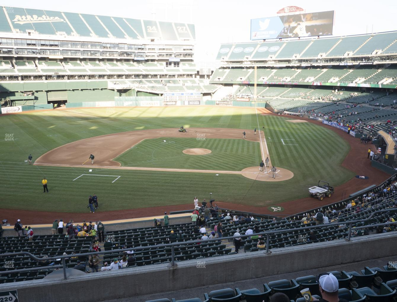 Oakland Athletics at RingCentral Coliseum Section 220 View