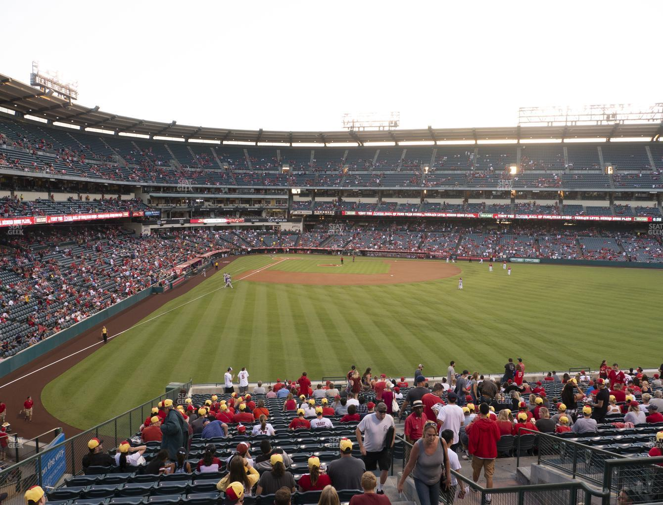 Los Angeles Angels at Angel Stadium of Anaheim Section 244 View