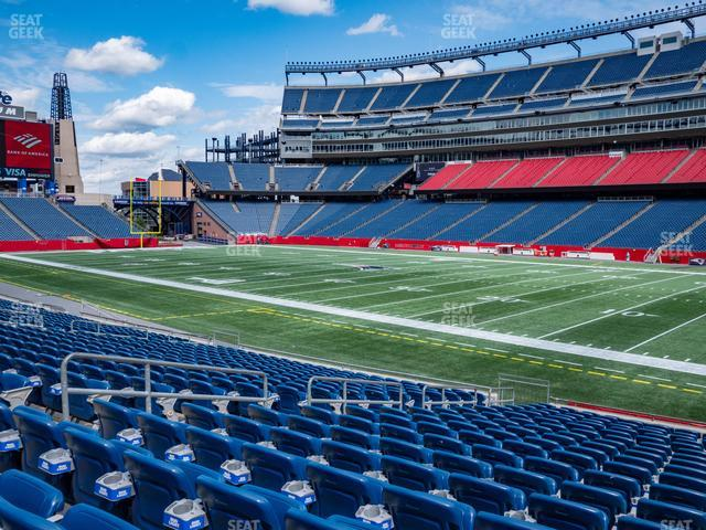 Gillette Stadium Section 127 view