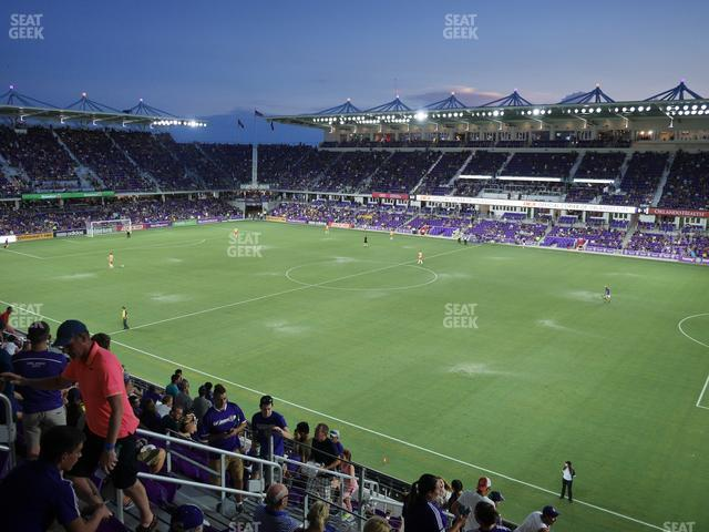 Exploria Stadium Section 131 view