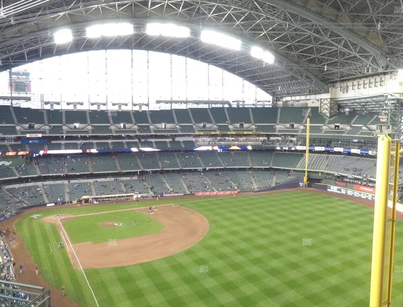 Milwaukee Brewers at Miller Park Section 405 View