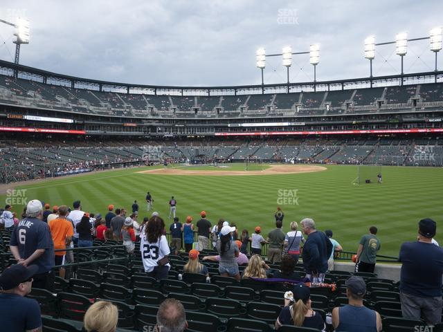 Comerica Park Section 103 view