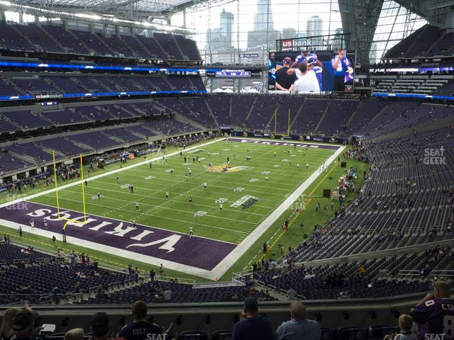 U.S. Bank Stadium Section 220 view