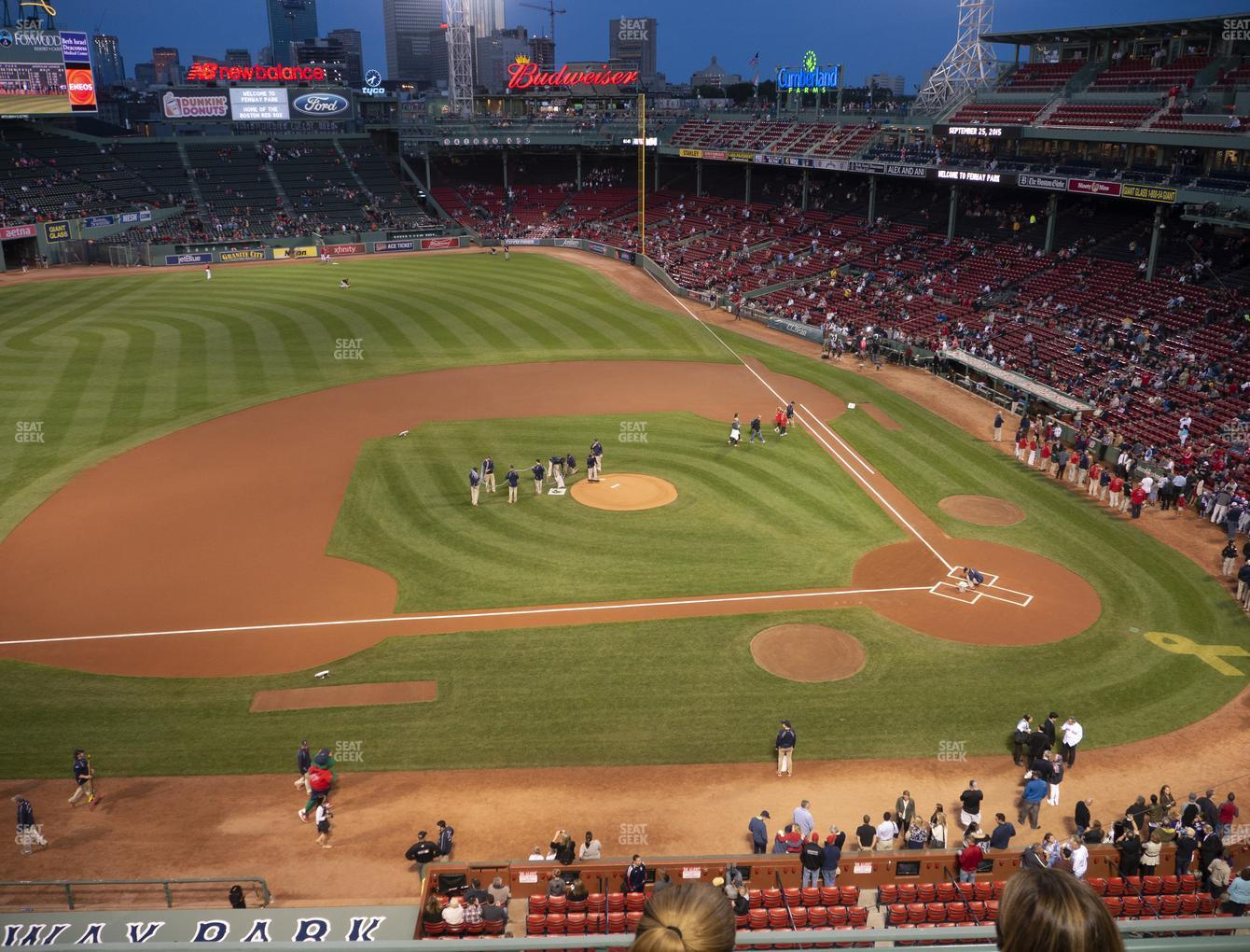 Boston Red Sox at Fenway Park State Street Pavilion Club 6 View