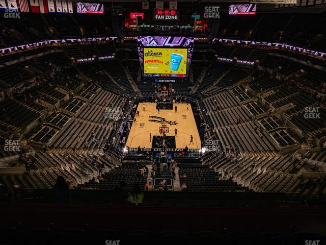 AT&T Center Section 200 view