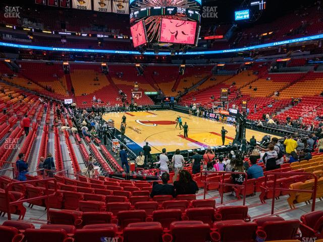 American Airlines Arena Section 102 view