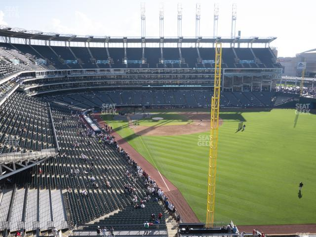 Progressive Field Section 417 view