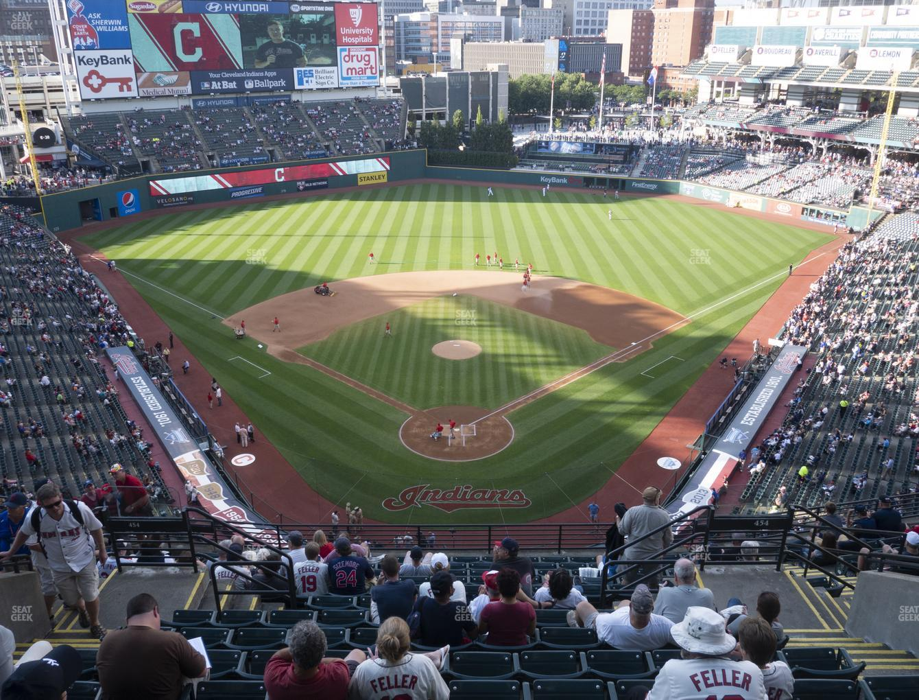 Cleveland Indians at Progressive Field Section 554 View