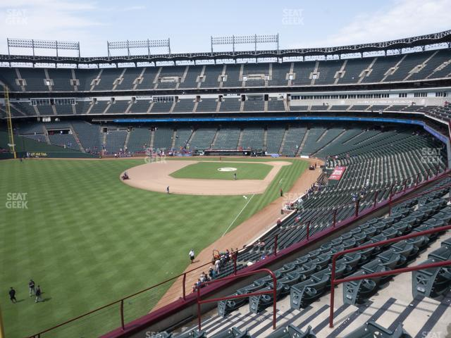Globe Life Park Section 209 view