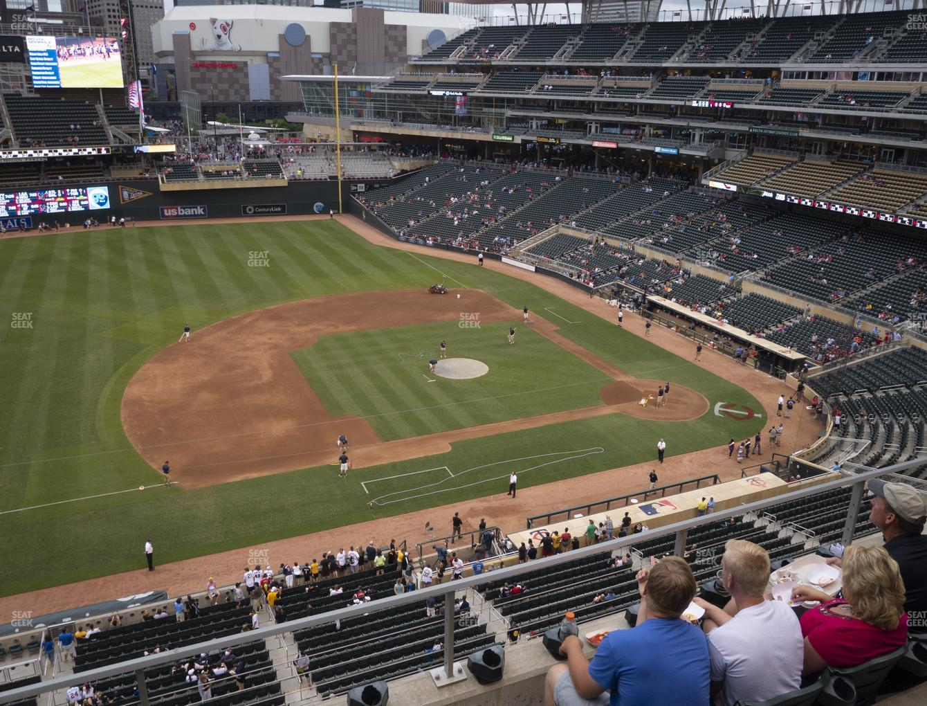 Minnesota Twins at Target Field Section 222 View