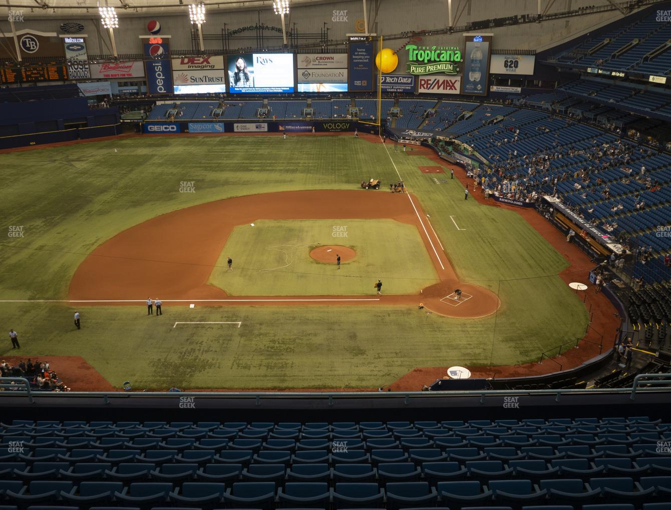 Tampa Bay Rays at Tropicana Field Section 309 View