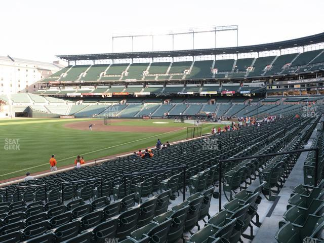 Oriole Park at Camden Yards Section 68 view