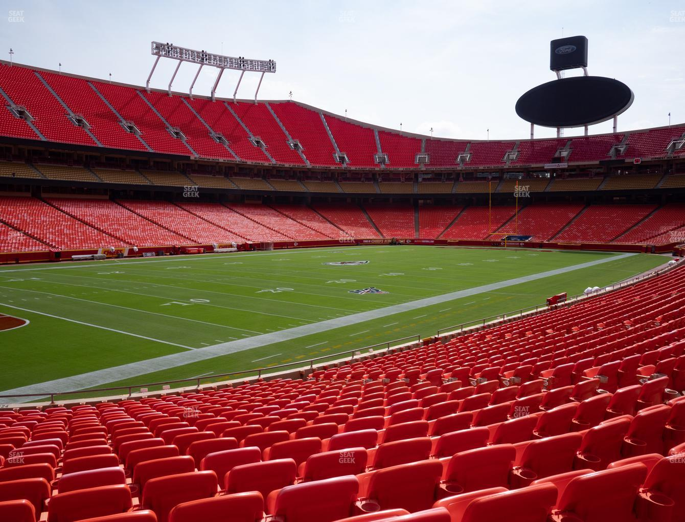 Kansas City Chiefs at Arrowhead Stadium Section 124 View