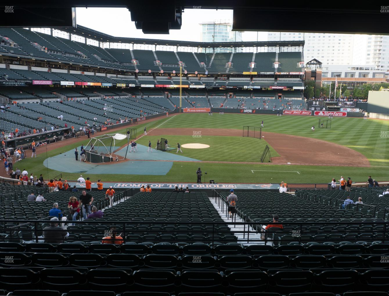 Baltimore Orioles at Oriole Park at Camden Yards Section 23 View
