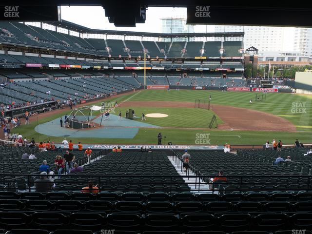 Oriole Park at Camden Yards Section 23 view