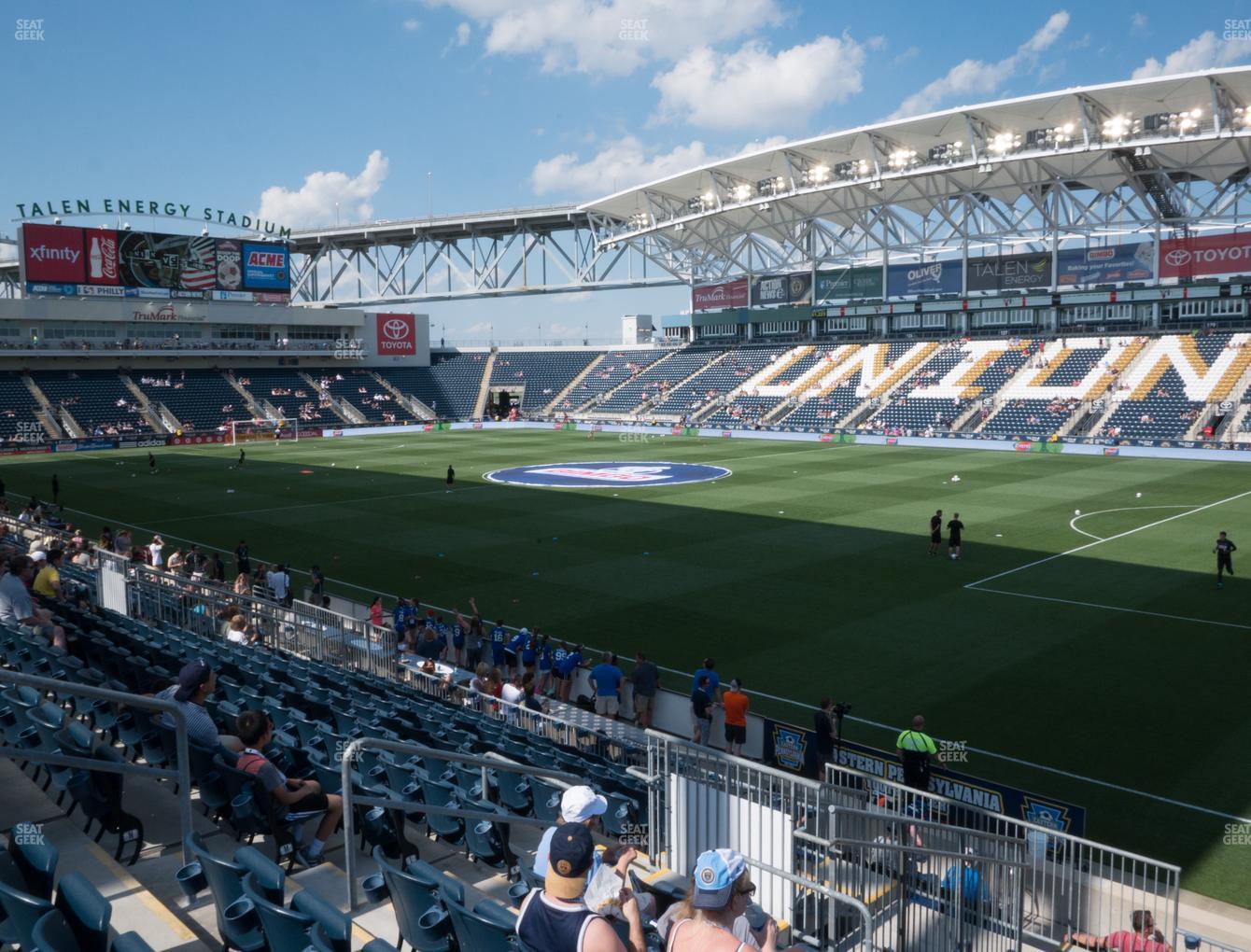 Talen Energy Stadium Section 102 Seat Views Seatgeek