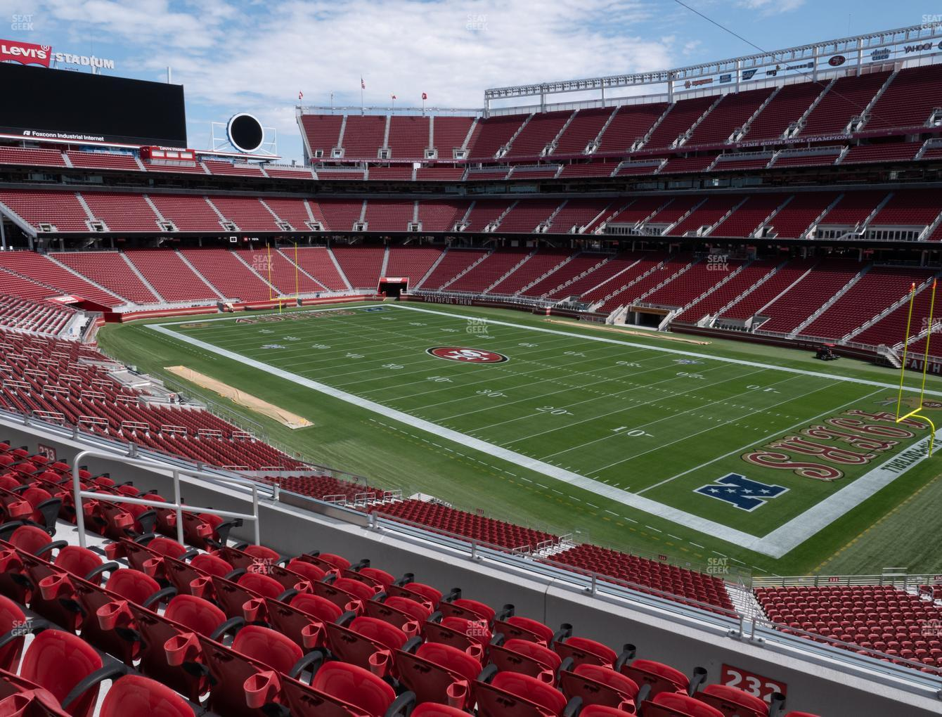 San Francisco 49ers at Levi's Stadium Section 232 View