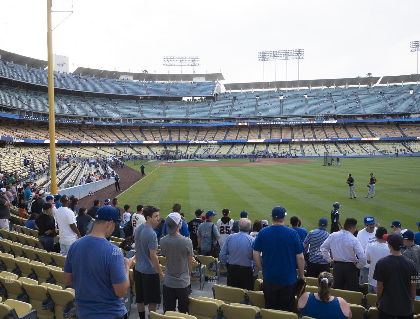 Los Angeles Dodgers at Dodger Stadium Field Box 52 View