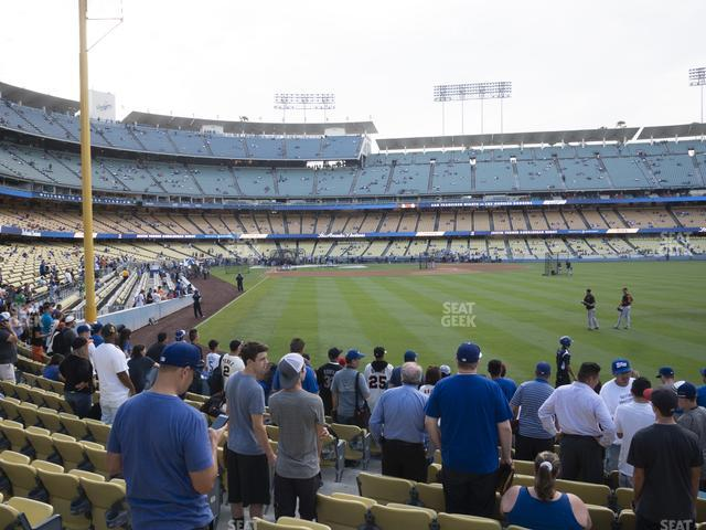 Dodger Stadium Field Box 52 view