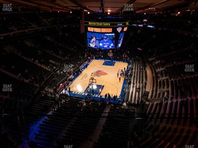 Madison Square Garden Section 321 view