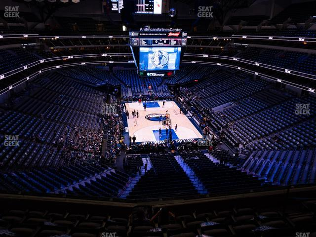 American Airlines Center Section 302 view