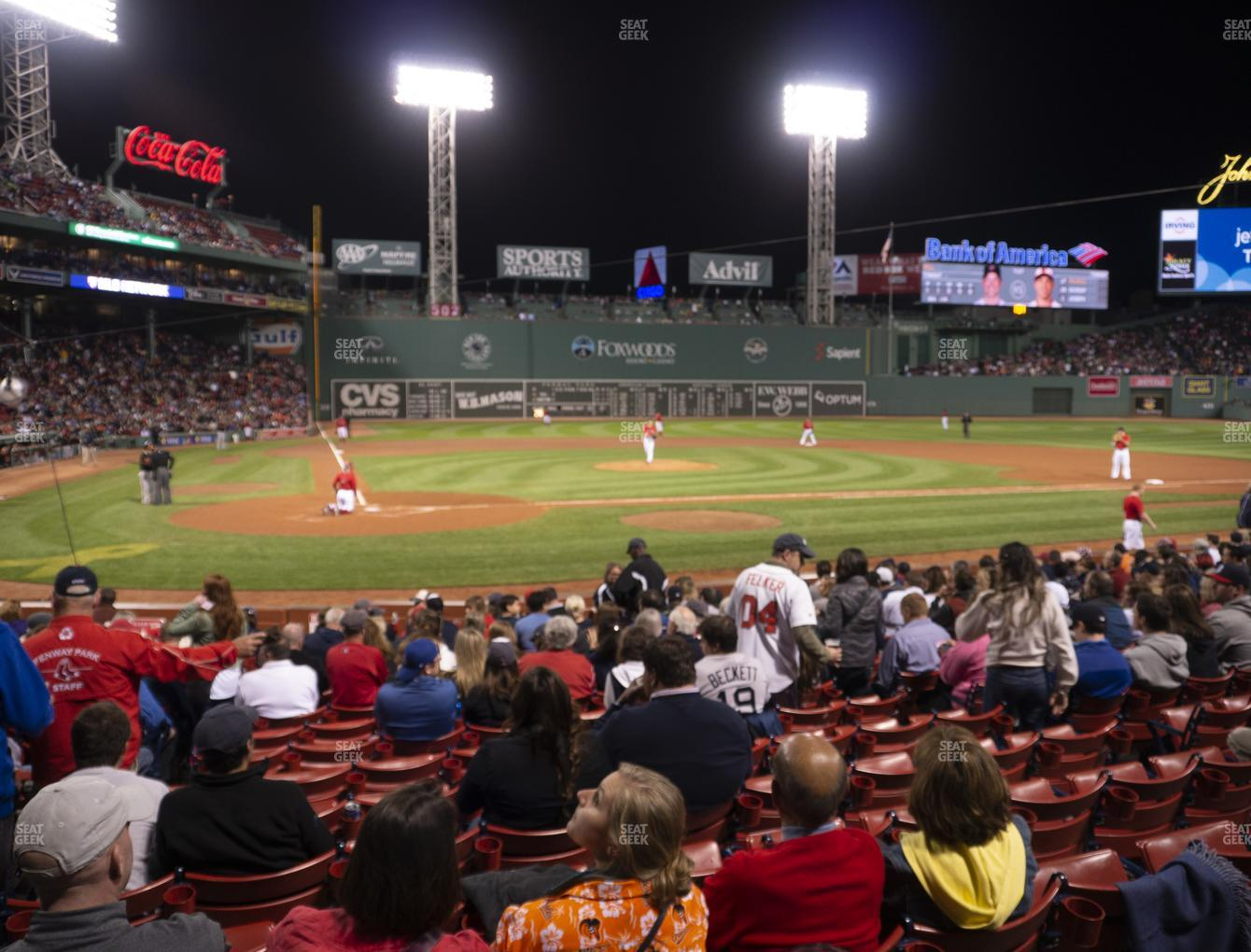 Boston Red Sox at Fenway Park Loge Box 123 View